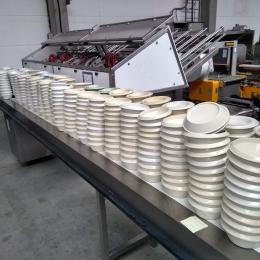 plastic dessertborden met deksel