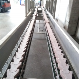 conveyor belt with driers