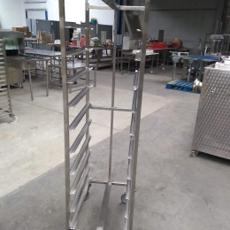 Mobile s/s rack (10 levels)