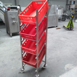 Mobile s/s Crate rack