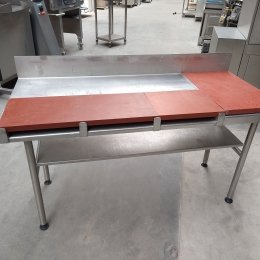 Table de travail ertalon / inox